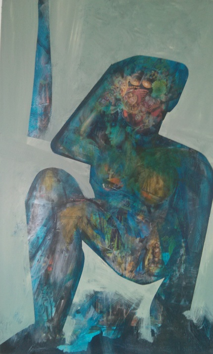 Blue Girl - Jacinta Kyam collab with Victor Rubin