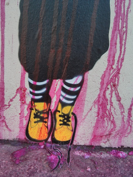 be free : pink rain shoes
