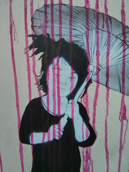 be free : pink rain parasol