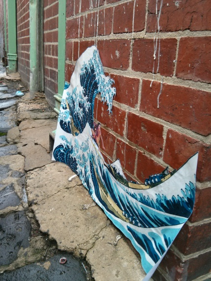 hokusai : great wave and surfer fitzroy