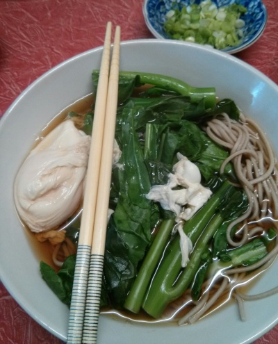 soba noodles with gai lan
