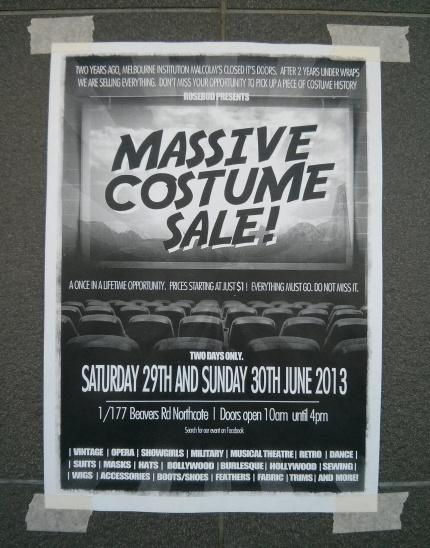 malcom's massive costume sale