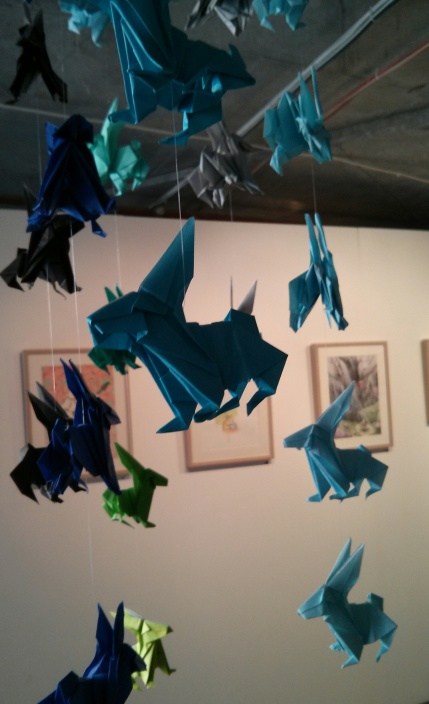 sally land : blue origami bunnies