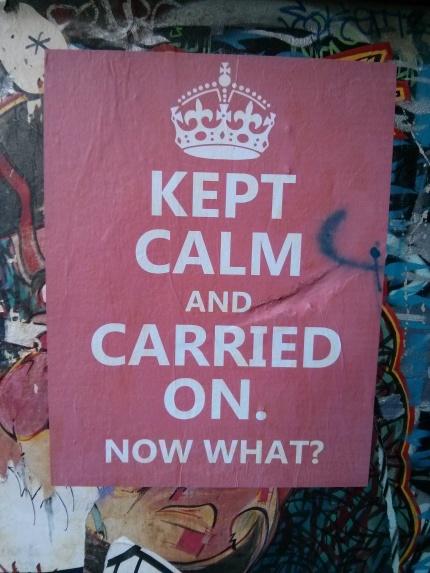 cel out : kept calm