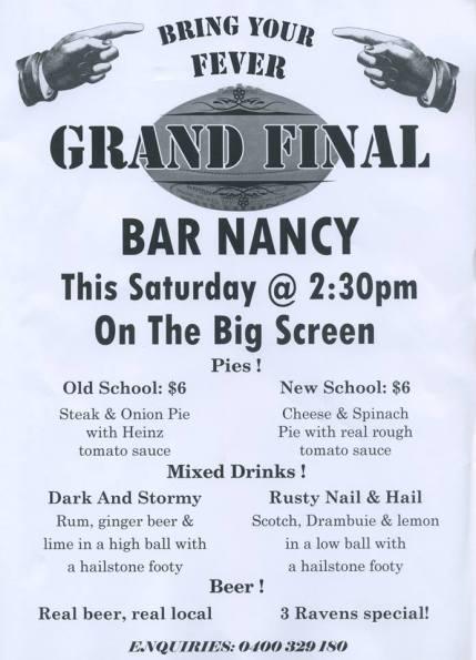 bar nancy : grand final 2013