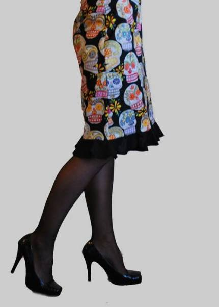 flashback fabric : calaveras pencil skirt