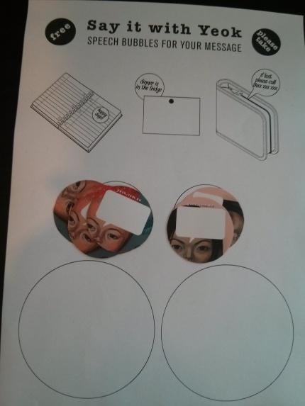 yeok : speech bubble stickers