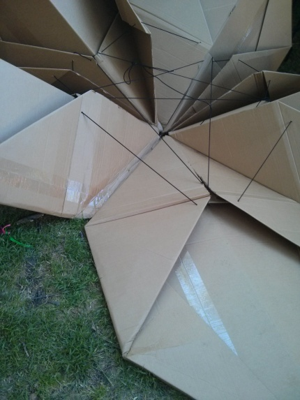 cardboard origami : the village festival, fitzroy 2