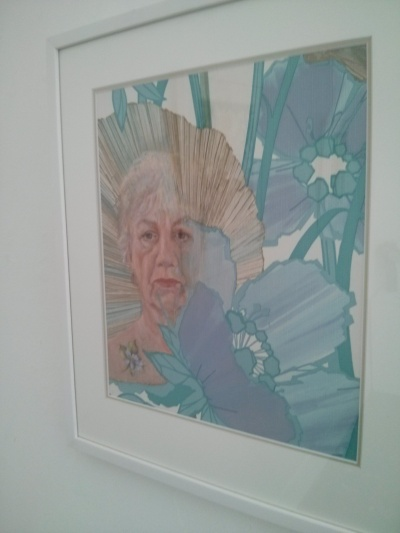 sue bottomley : self portrait with mother's image, 2013