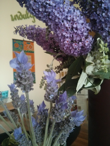 buddleia and lavender