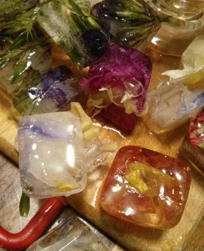 edible flower ice cubes 2