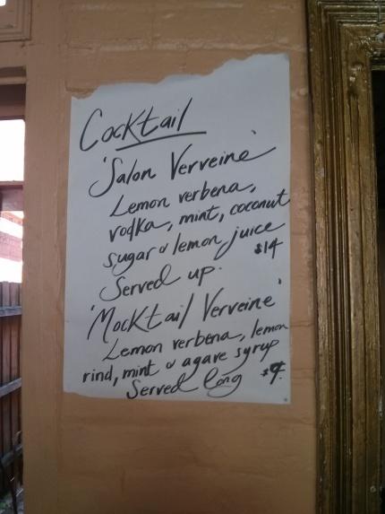 salon verveine and mocktail verveine ingredients - bar nancy