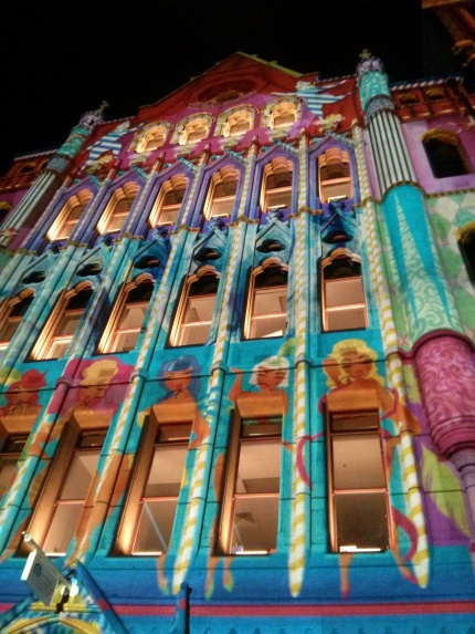 wonderland projections : the electric canvas @ white night melbourne 2014
