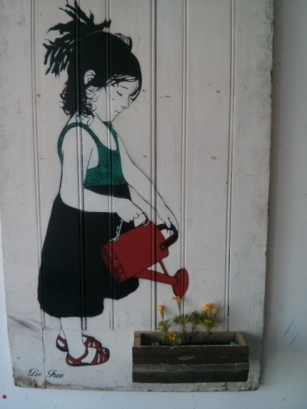 be free : split in two northcote - flower box 2