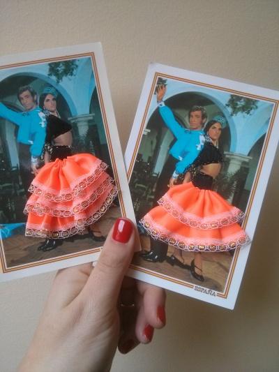 kitsch spanish postcards