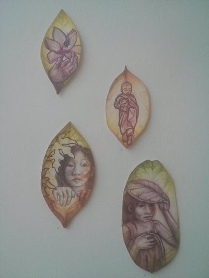 cameron brideoake : watercolour leaves