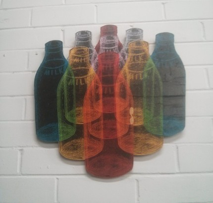 phoenix - coloured bottles @ sticky fingers apparel launch