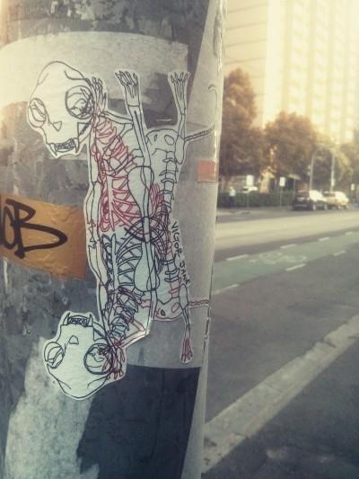 skeleton sticker duo : victor jane, fitzroy