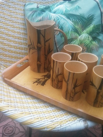 bamboo drinks set