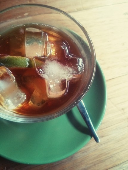 cold drip coffee lime and tonic : il melograno